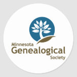 Sociedad genealógica de Minnesota Etiquetas Redondas