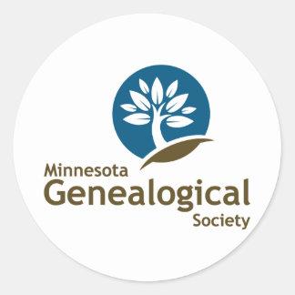 Sociedad genealógica de Minnesota Pegatina Redonda