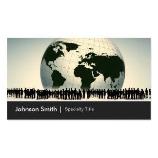 Sociedad Global Worldwide Enterprise Company Plantilla De Tarjeta De Visita