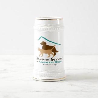 Sociedad humana en el stein del logotipo del ranch jarra de cerveza