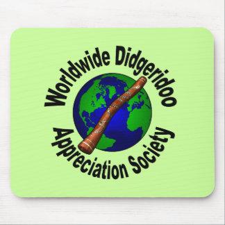 Sociedad mundial del aprecio de Didgeridoo Alfombrillas De Ratones