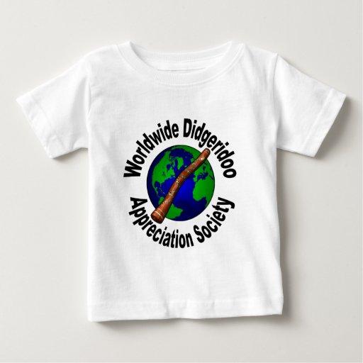 Sociedad mundial del aprecio de Didgeridoo T-shirt