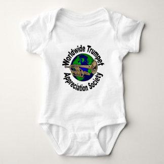 Sociedad mundial del aprecio de la trompeta body para bebé