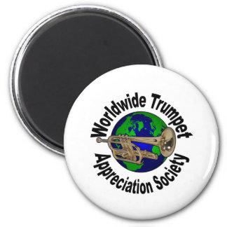 Sociedad mundial del aprecio de la trompeta imán de frigorifico