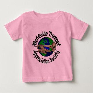 Sociedad mundial del aprecio de la trompeta playera de bebé