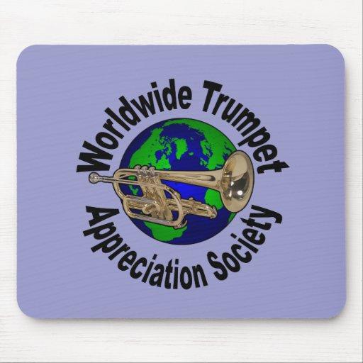 Sociedad mundial del aprecio de la trompeta tapete de ratón