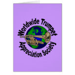 Sociedad mundial del aprecio de la trompeta tarjeta