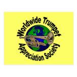 Sociedad mundial del aprecio de la trompeta tarjetas postales