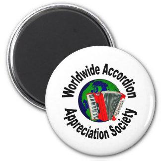 Sociedad mundial del aprecio del acordeón imán de frigorífico