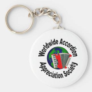 Sociedad mundial del aprecio del acordeón llaveros personalizados