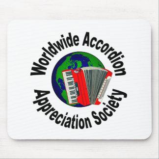 Sociedad mundial del aprecio del acordeón mousepads