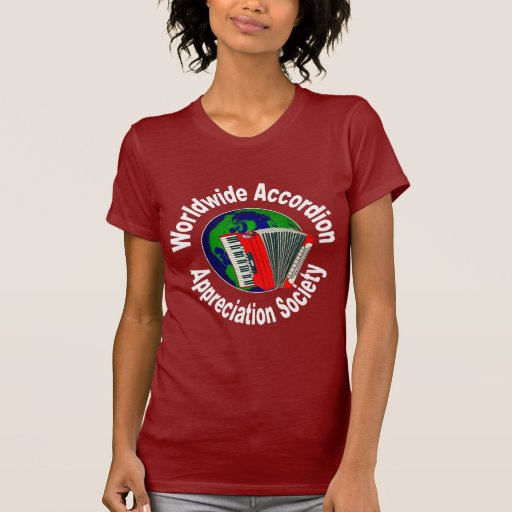 Sociedad mundial del aprecio del acordeón camisetas