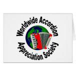 Sociedad mundial del aprecio del acordeón felicitación