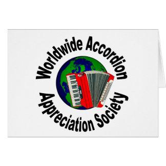 Sociedad mundial del aprecio del acordeón tarjeta de felicitación