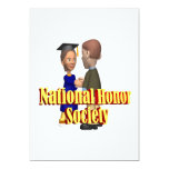 Sociedad nacional del honor invitación 12,7 x 17,8 cm