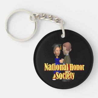 Sociedad nacional del honor llavero redondo acrílico a una cara