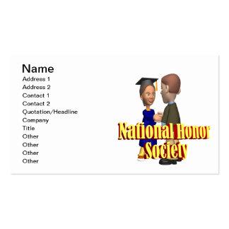 Sociedad nacional del honor tarjetas de visita