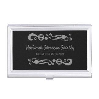 Sociedad nacional del sarcasmo cajas de tarjetas de negocios
