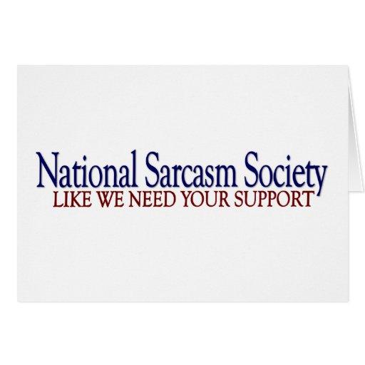 Sociedad nacional del sarcasmo felicitaciones