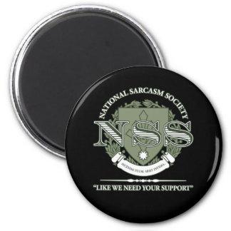 Sociedad nacional del sarcasmo imán redondo 5 cm