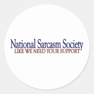 Sociedad nacional del sarcasmo pegatinas