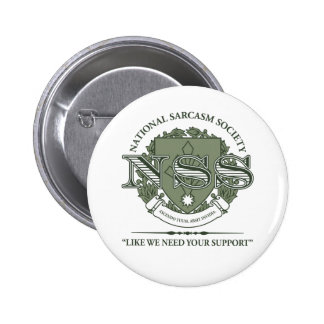Sociedad nacional del sarcasmo pins