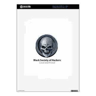 Sociedad negra del producto del logotipo de los iPad 2 calcomanía