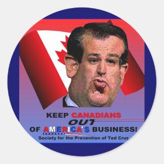 Sociedad para la prevención de Ted Cruz Etiquetas Redondas
