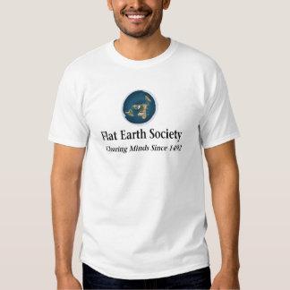 Sociedad plana de la tierra remera