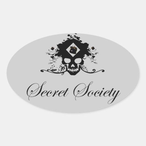 Sociedad secreta - colcomanias de óval