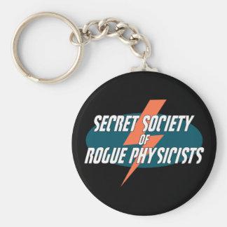 Sociedad secreta de los físicos del granuja llavero redondo tipo pin