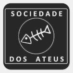 Sociedade Dos Ateus Pegatina Cuadrada
