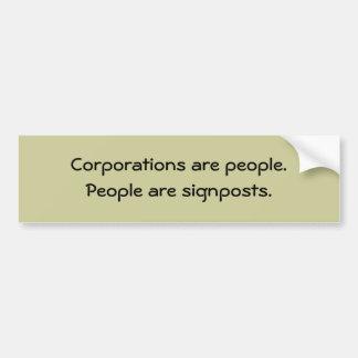 Sociedades y gente. La gente es postes indicadores Pegatina Para Auto