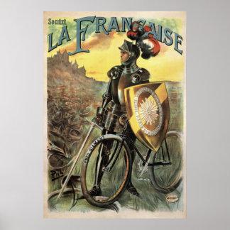 Societe La Francaise Vintage Bicycle Poster