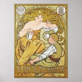 Société Populaire des Beaux-Arts by Mucha Poster