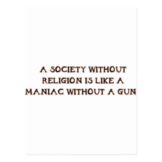Society and Maniacs Post Card