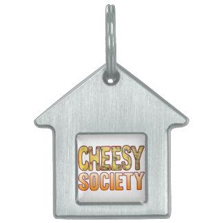 Society Blue Cheesy Pet ID Tag