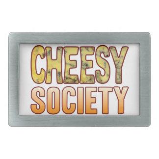 Society Blue Cheesy Rectangular Belt Buckle