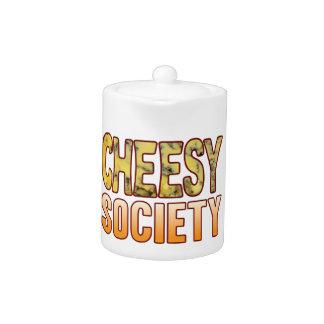 Society Blue Cheesy Teapot