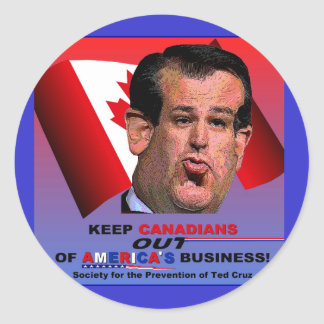 Society for the Prevention of Ted Cruz Classic Round Sticker