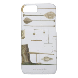 Society Islands: pangas, fishing hooks and other t iPhone 7 Case