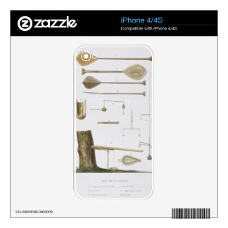 Society Islands: pangas, fishing hooks and other t Decal For iPhone 4S