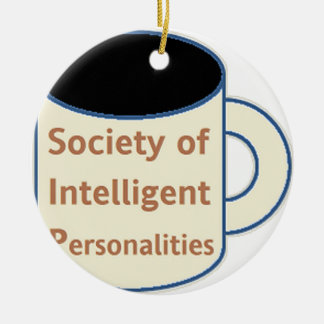 Society of Intelligent Personalities (SIP) Ceramic Ornament