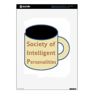 Society of Intelligent Personalities (SIP) Decal For iPad 3