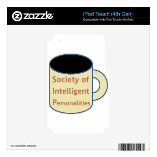 Society of Intelligent Personalities (SIP) Decal For iPod Touch 4G