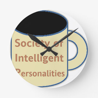 Society of Intelligent Personalities (SIP) Round Clock