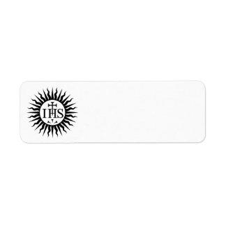 Society of Jesus (Jesuits) Logo Label