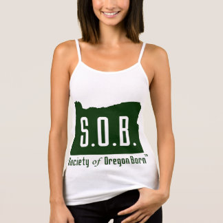 Society of Oregon Born Spaghetti strap tank top