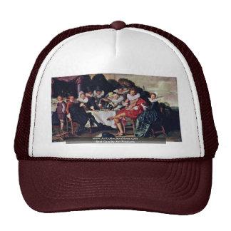 Society Revelers Outdoors By Hals Dirck Trucker Hat