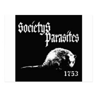 Society's Parasites shirt Postcard